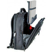 ErgoSafe systemet med indbygget laptop holder der samtidig beskytter den bærebare pc.