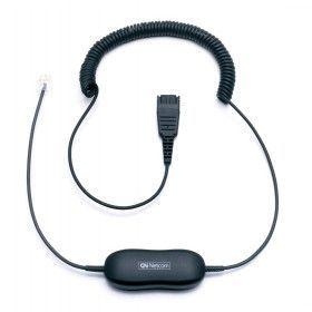 Jabra Smart Cord, 2m. spiral til fastnet telefoner
