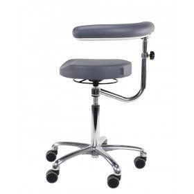Score Medical 6360 taburet m/hjul og arm/rygstøtte